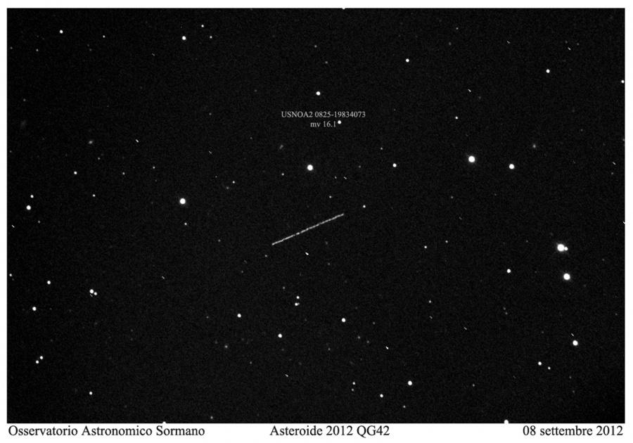 Asteroide in avvicinamento