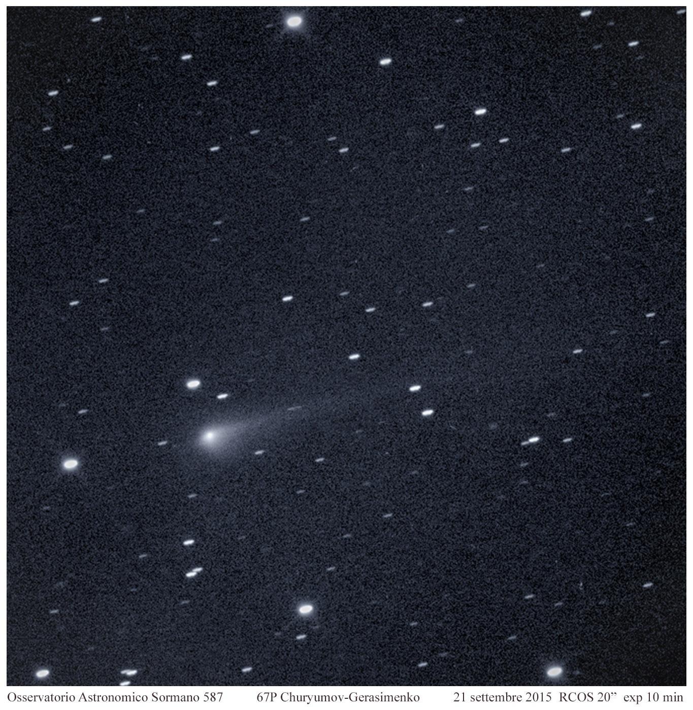 Diversi punti di vista: la cometa 67P