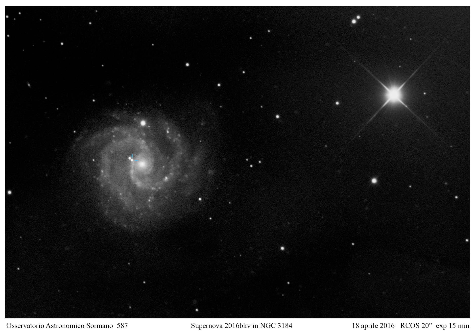 Supernova in NGC 3631 e NGC 3184