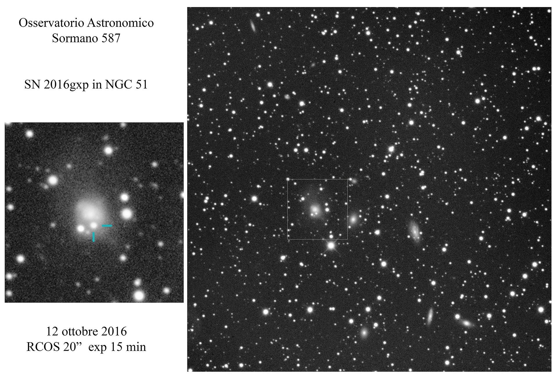 SN 2016gxp: esplosione in diretta... o forse no?