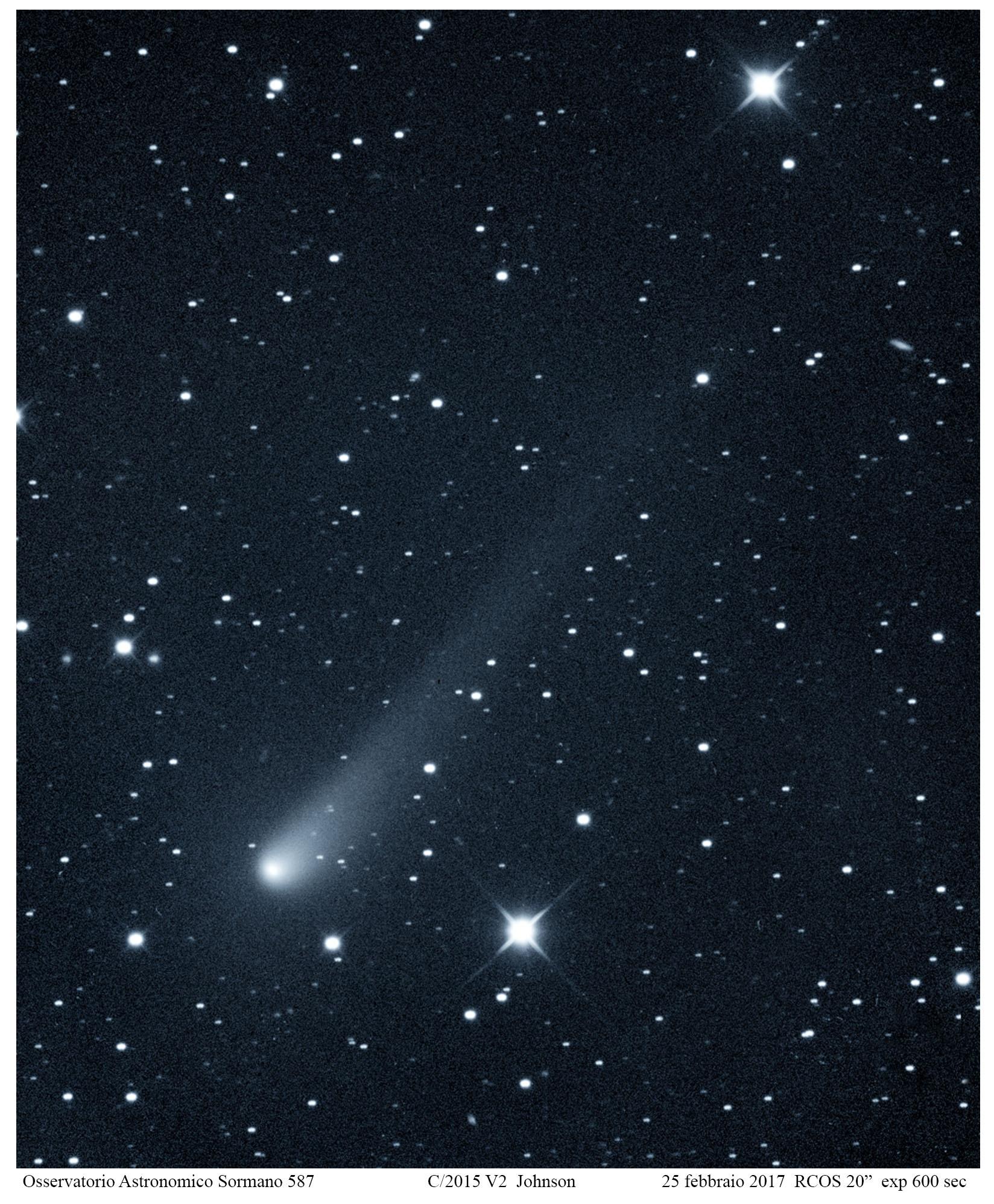 Le comete 45P e Johnson