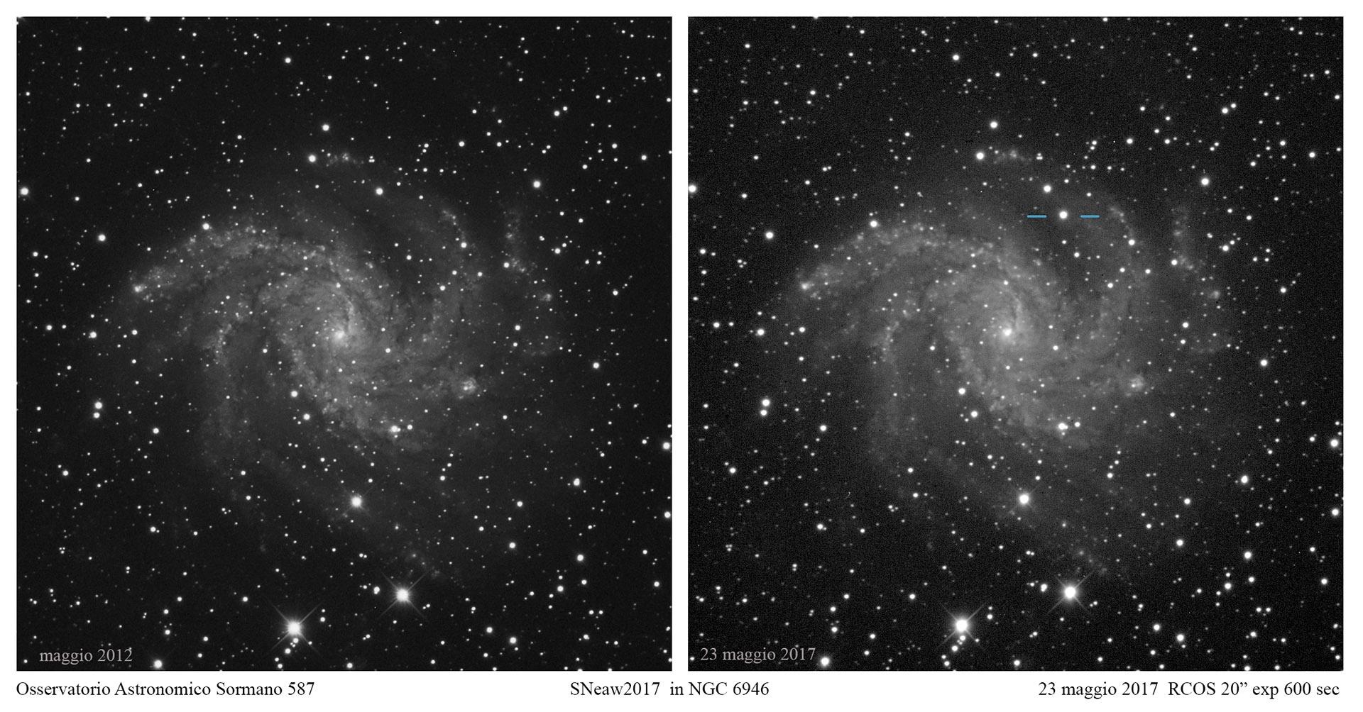 Supernova da record in una galassia da record