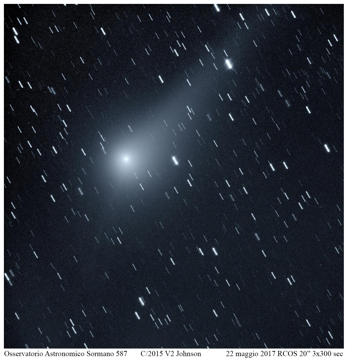 L'anticoda della cometa Johnson