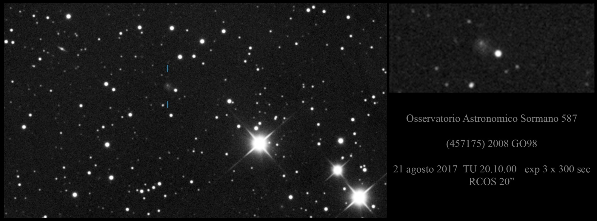 2008 GO98 Asteroide o cometa ?