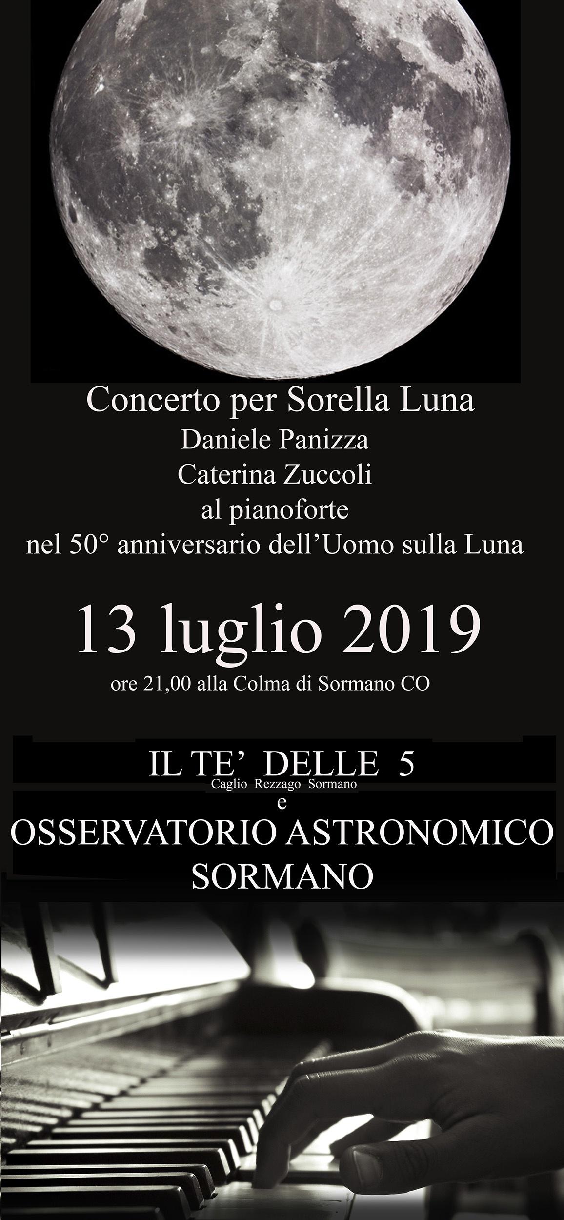 Sabato 13 luglio Concerto per pianoforte a Sorella Luna