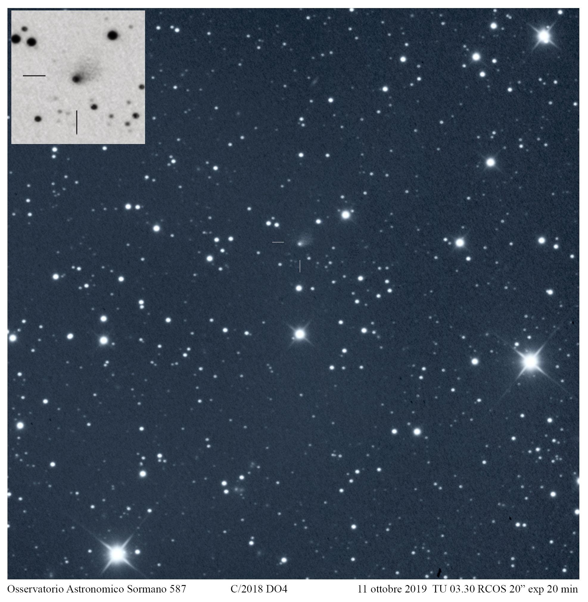 C/2018 DO4 l'asteroide diventato cometa