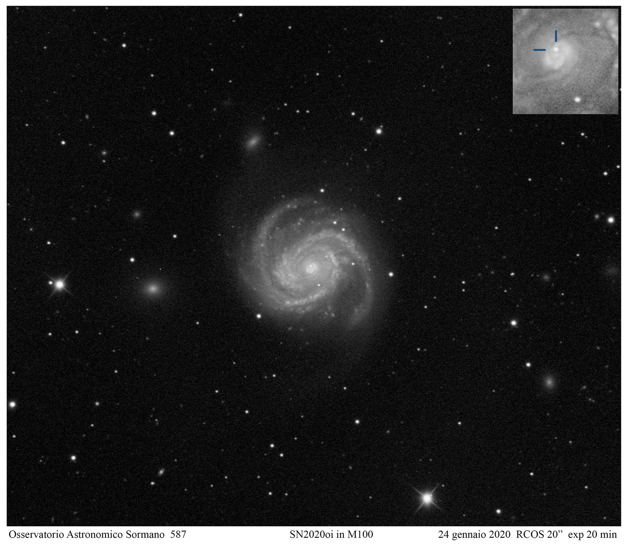 Supernovae SN 2020oi e SN 2020ue