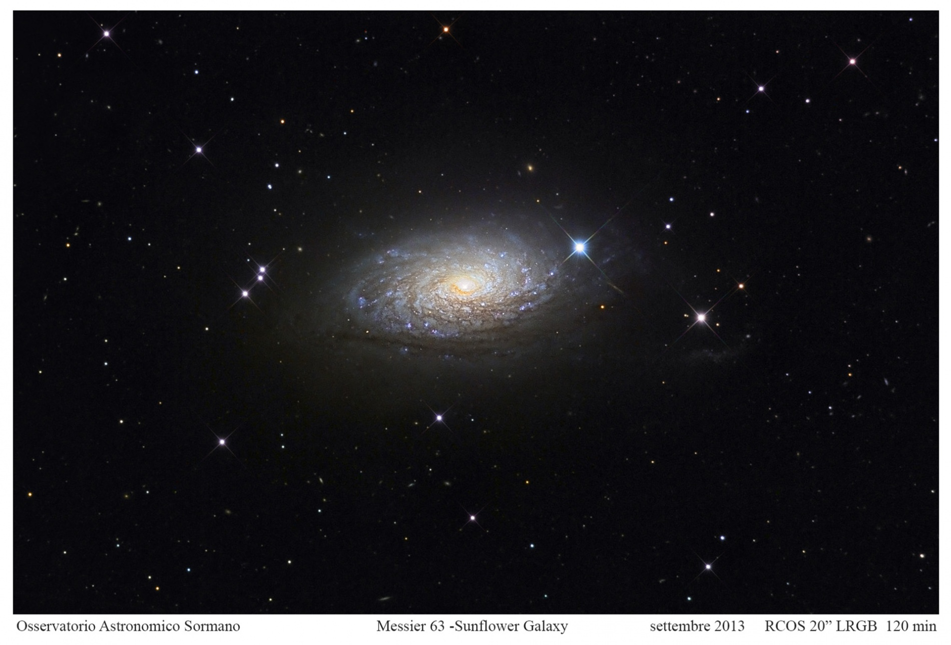 Messier 63: la Galassia Girasole
