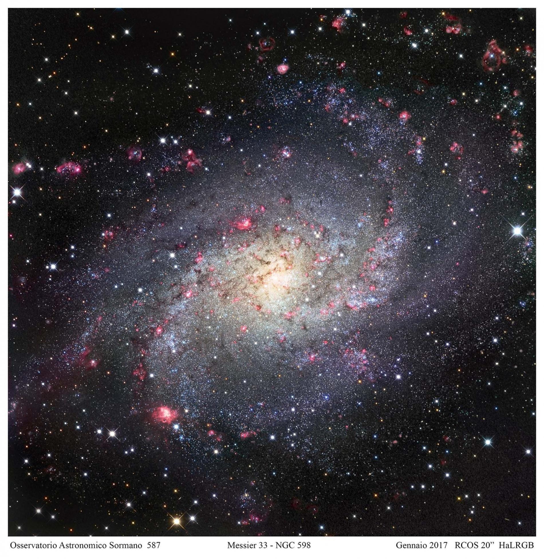 M33, una girandola fioccosa