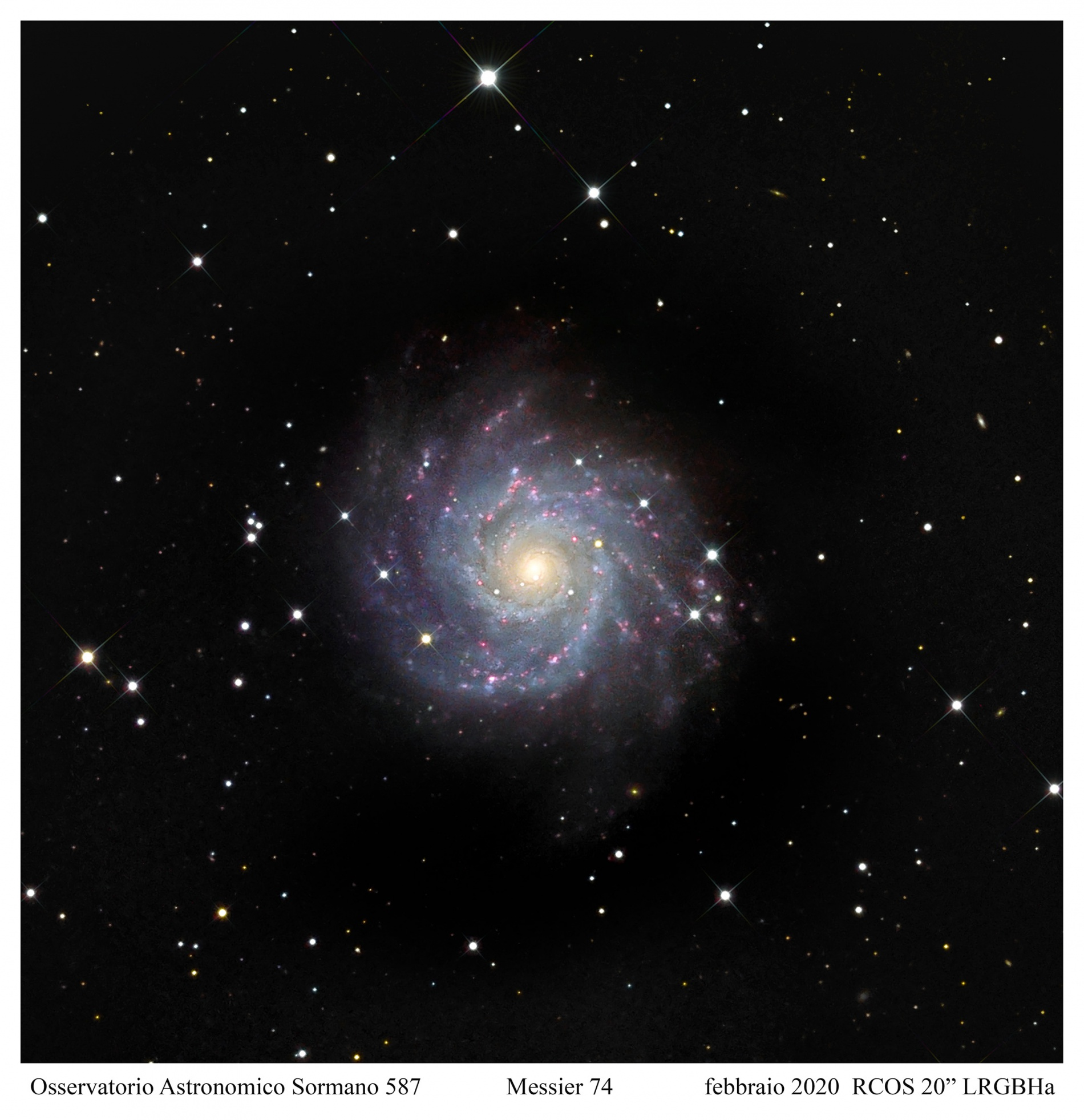 Messier 74, cantiere stellare