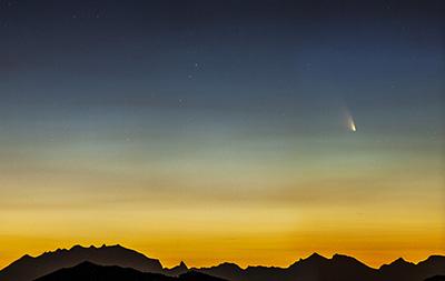 La Cometa Panstarrs e le Alpi