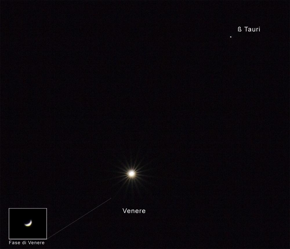Congiunzione Venere - Beta Tauri