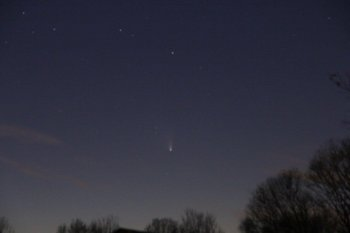 La Cometa Panstarrs fotografata nelle valli di Comacchio