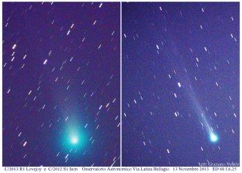 comete Lovejoy e Ison