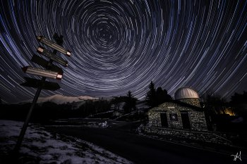 Startrails all'osservatorio
