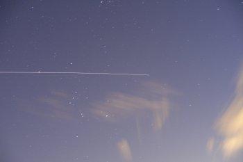 ISS attraversa Orione a Caslino d'Erba
