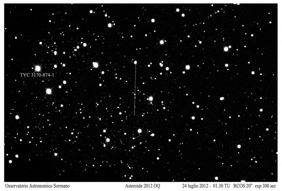 Immagine 1 - Asteroide 2012 OQ