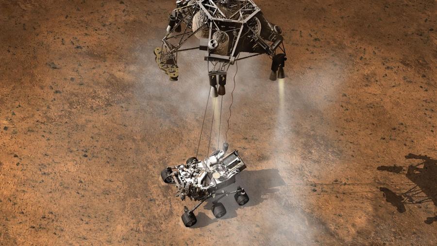 Immagine 1 - Curiosity è atterrata su Marte !