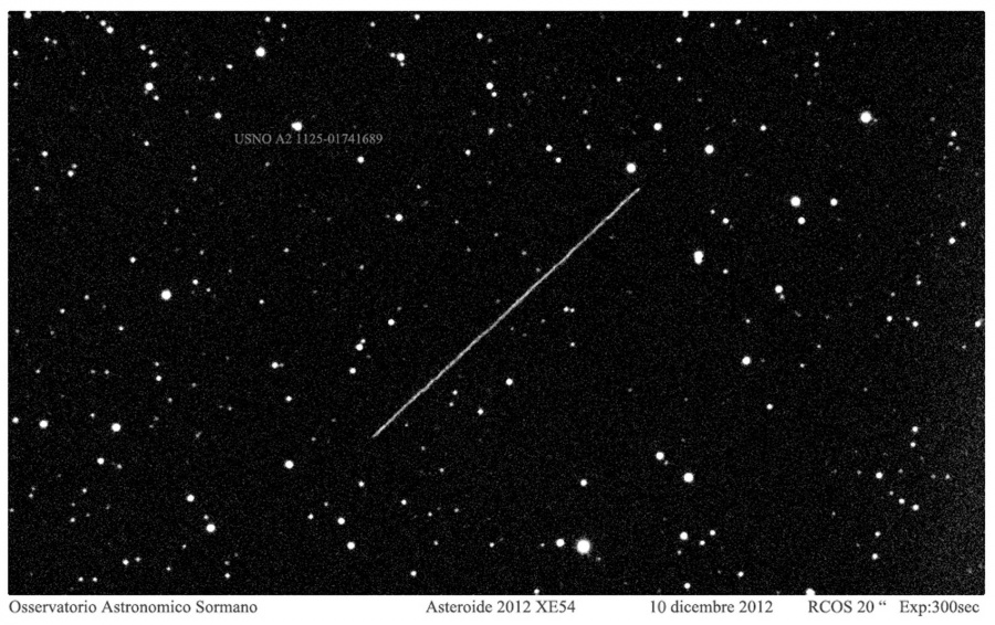 Immagine 1 - Eclissi asteroidale 2012 EX54