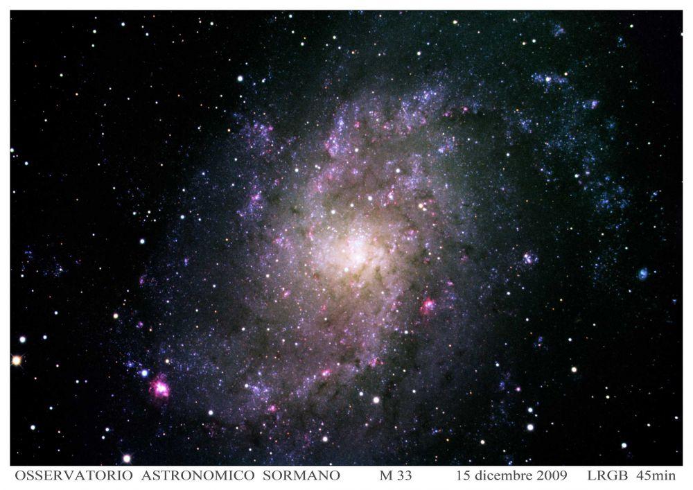 Foto Osservatorio  - Una galassia fioccosa