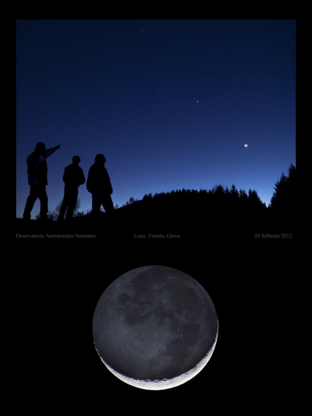 Foto Osservatorio  - Luna a 'barchetta', ci sorride