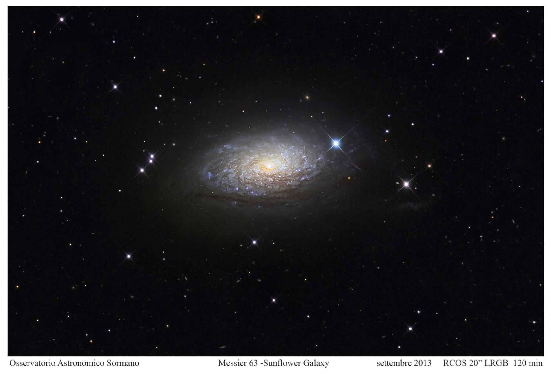 Foto Osservatorio  - Messier 63: la Galassia Girasole