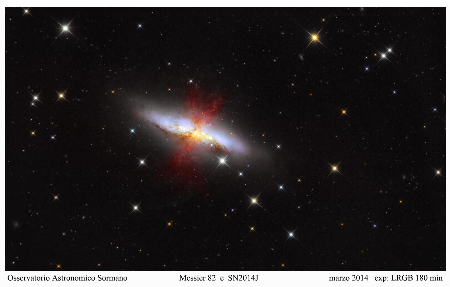 Foto Osservatorio  - M82: La galassia che voleva essere nebulosa