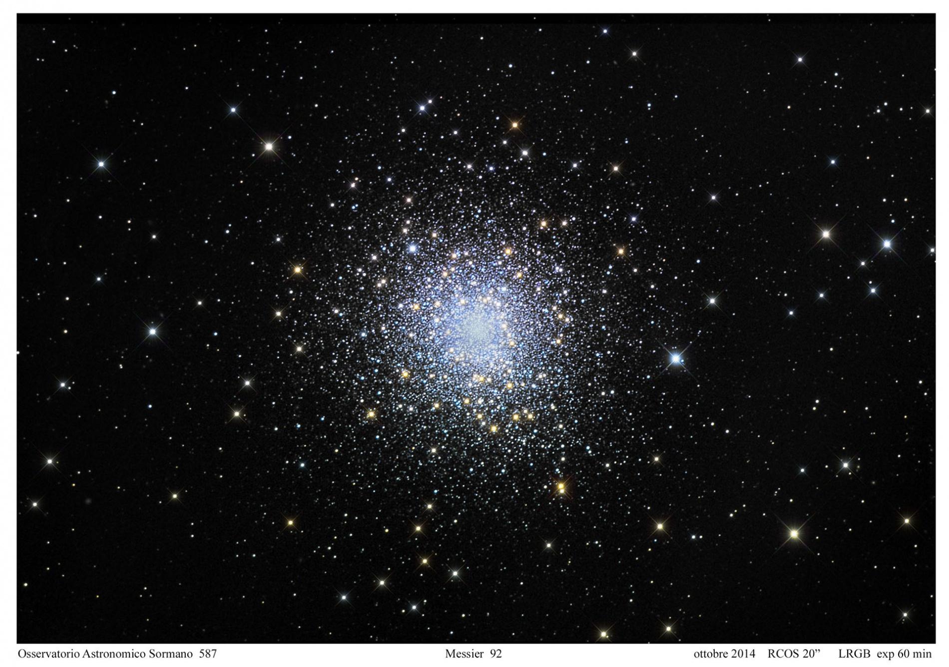 Foto Osservatorio  - Messier 92: Il tesoro dei cieli