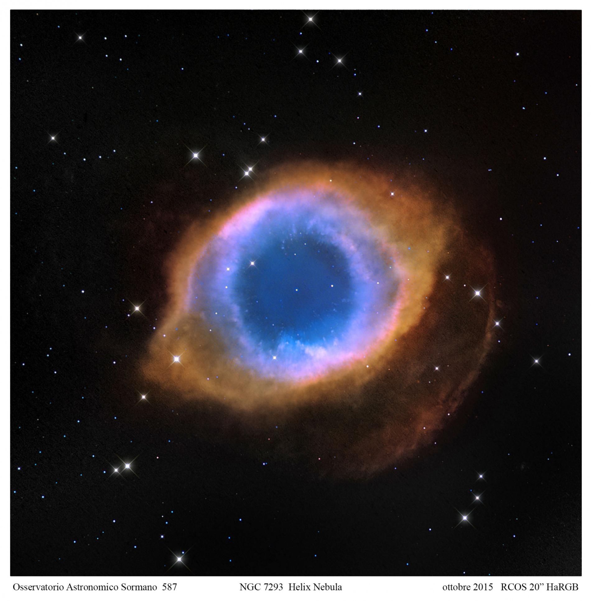 Foto Osservatorio  - Helix nebula: 5 miliardi di anni in un secondo