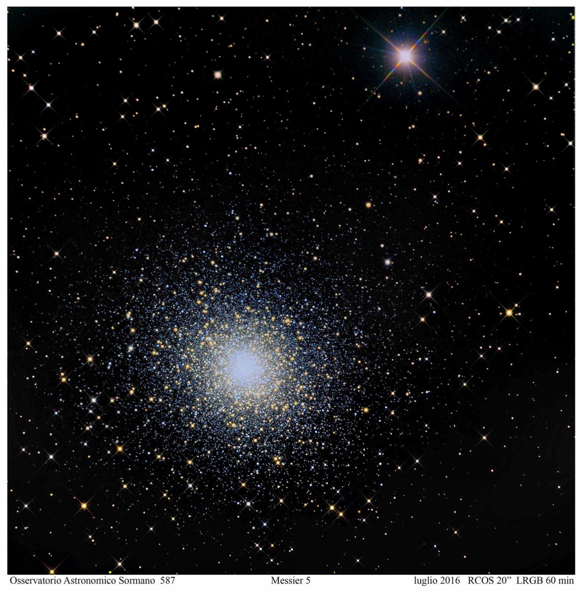 Foto Osservatorio  - M5: l'ammasso dei record