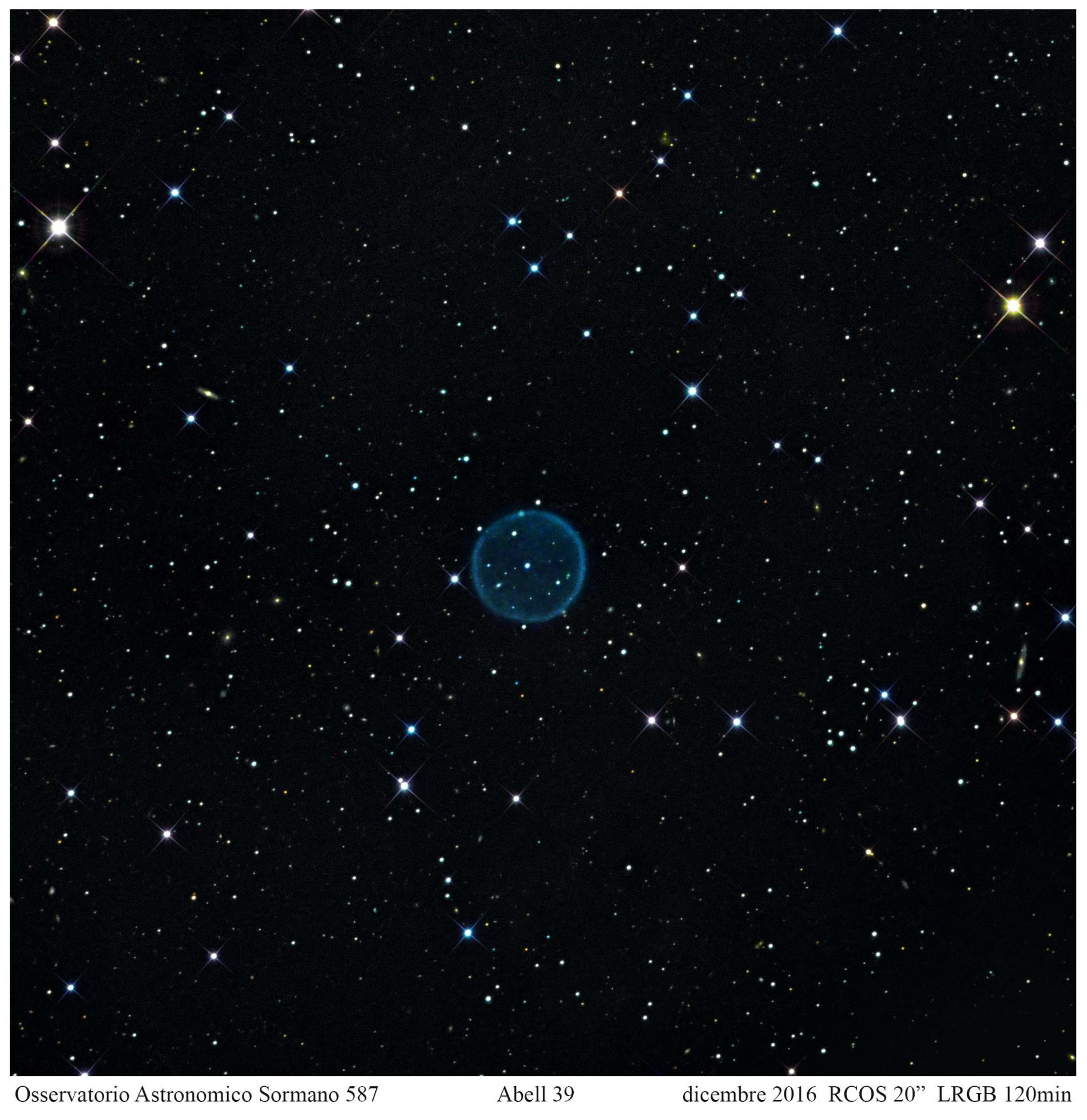 Foto Osservatorio  - ABELL 39, una gigantesca planetaria